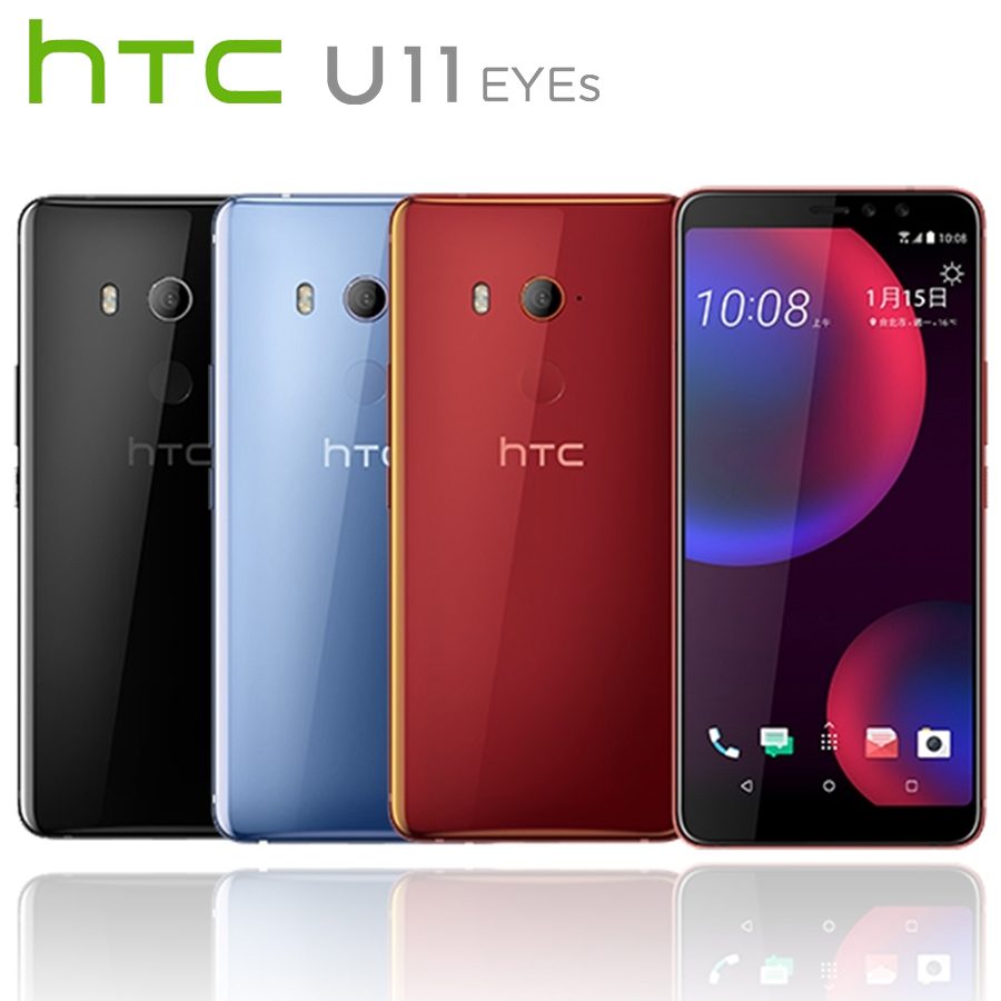 NEW HTC U11 EYEs 4G LTE Mobile Phone 6.01080x2160p 4GB RAM 64GB ROM Dual SIM Snapdragon652 Octa Core NFC 3930mAh Android Phone image