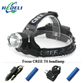 lantern XML T6 headlamp LED headlight CREE head lamp frontal torch waterproof 18650 Rechargeable battery 3800 lumens