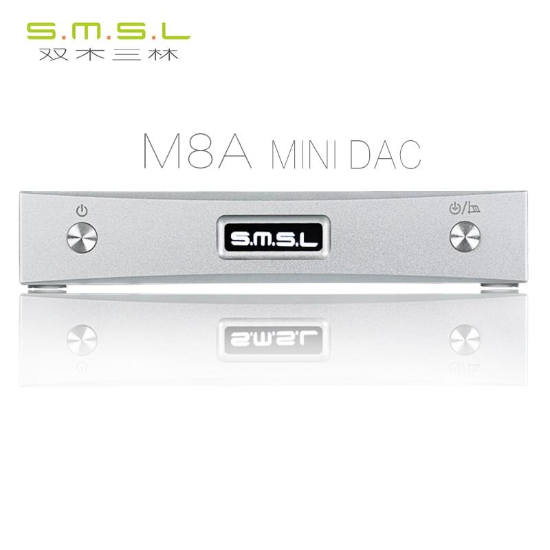 SMSL M8A DAC ES9038Q2M 32Bit/768KHz DSD512 DAC Optical Coaxial XMOS USB Asynchronous decoder цена
