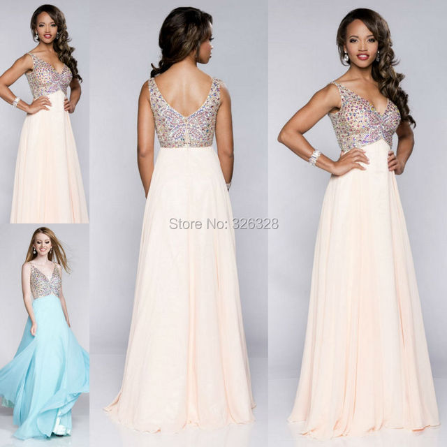 Sweetheart V Neck Empire Long Beaded Prom Dress Butterfly Embellished  Evening Dresses Ball Dresses Prom 2015 300c3d804d4b