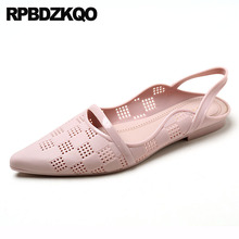 china breathable pointed toe slingback ladies beautiful flats shoes sandals designer slip on pink chic jelly cheap women purple