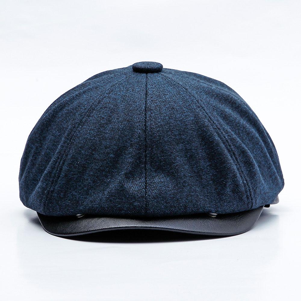 Octagonal-Hat Hats Newsboy-Cap Velvet Beret Warm Retro Autumn Winter Women for Windproof