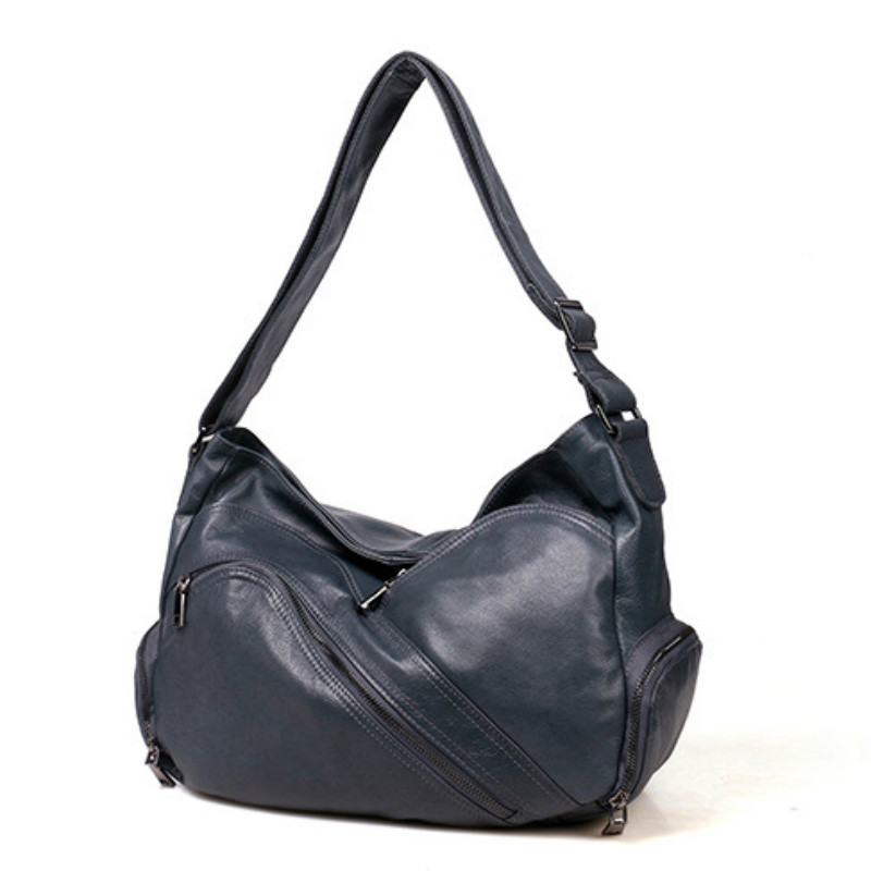 mulheres hobos bolsa de ombro Bag Colors : Black Blue Brown Coffee Gray