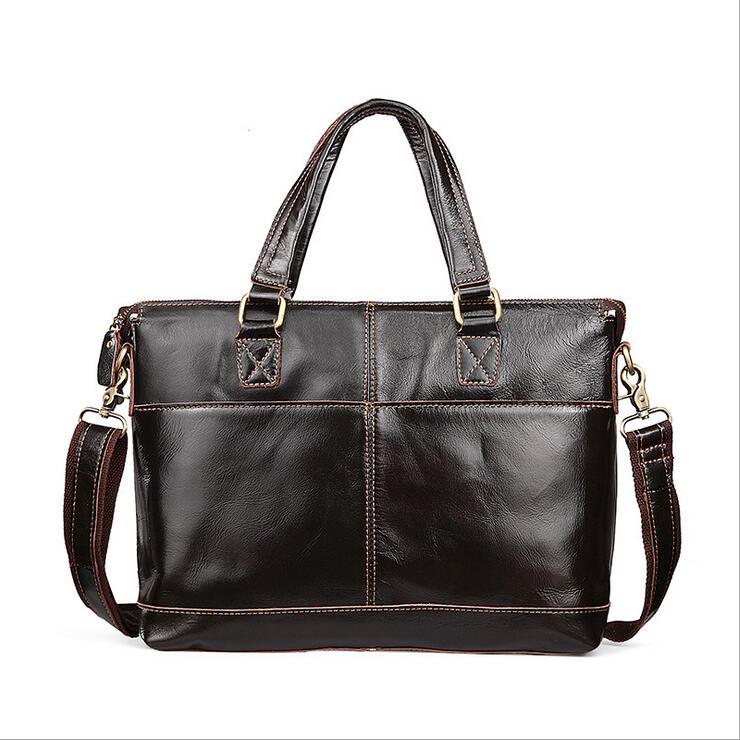 ФОТО Genuine leather Men Crossbody Bag iPad Men's Handbags Designer Messenger Bags