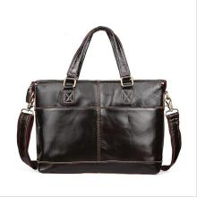 Wax oil skin Men Crossbody Bag Men's iPad Handbags Genuine leather Designer Messenger Bags