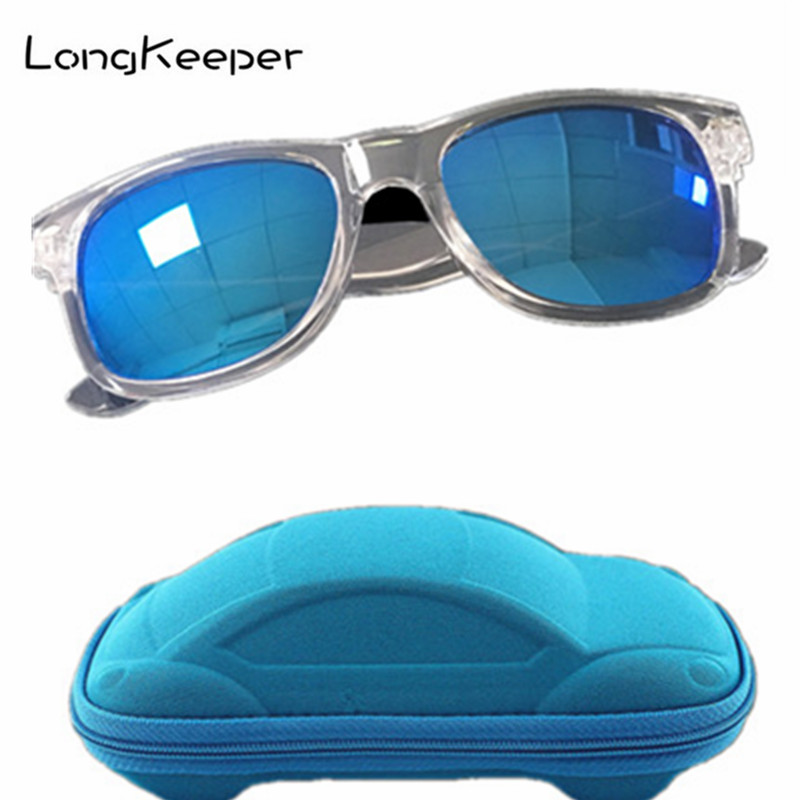 Longkeeper Classic Children Sunglasses Boys Girls Kids Baby Child Sun Glasses Goggles Cool UV400 Mirror Glasses With Box Case