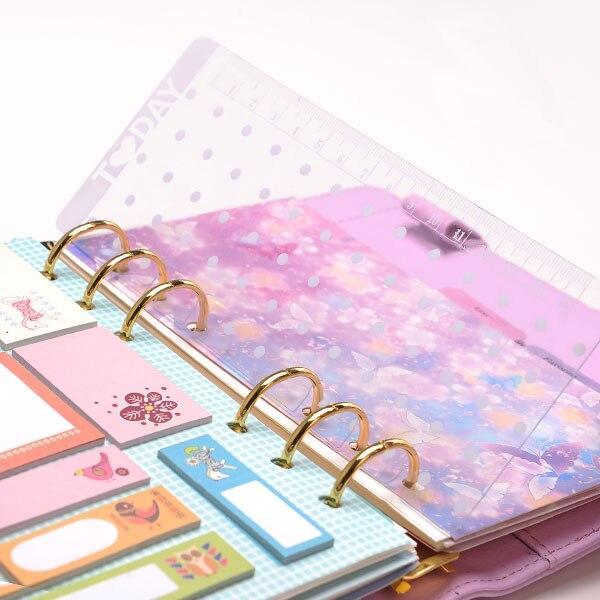 Regla de agenda Lovedoki Dokibook 2020, regla de metal A5 A6, regla de carpeta de 6 anillas, accesorios kawaii, envío gratis