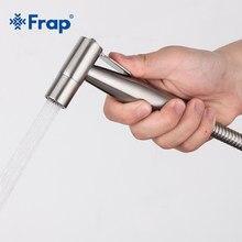 Frap Handheld bidet słuchawka prysznicowa zestaw ze stali nierdzewnej ręczna bateria bidetowa do opryskiwacz łazienkowy czyszczenie głowicy prysznicowej Y50007