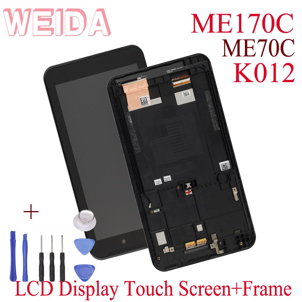 WEIDA B070ATN02.0 For <font><b>Asus</b></font> ME171 LCD Display Touch Screen Assembly Replacement With Frame For <font><b>Asus</b></font> <font><b>K012</b></font> ME170C lcd image