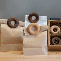 Wooden doughnut seal clip snack seal clip food packaging bag seal gift bag clip kitchen gadgets