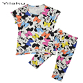 Retail Cotton Children Moletom Mickey 2 Pcs Clothing Set  Baby Girls Boys Cartoon Printed Pajamas Vetement Mickey Garcon CF231