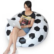 DHL free ship waterproof PVC inflatable seat chairs,instant air filled bean bag chair,football and soccer ball design beanbag