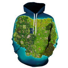 Creative Game Map Print Hoodie 2019 Spring 3D Mens Casual hip-hop Street Wear Sweatshirt  Skateboard
