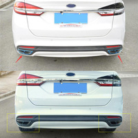 High quality Stainless Steel Rear Cylinder Exhaust Pipe Cover Trim Car Accessories Fit For Ford Mondeo MK5 2014 2018 2 Pcs/Set