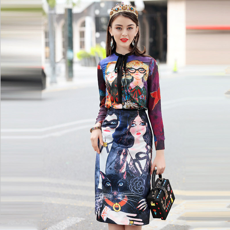 Two Sets High Quality 2019 New Fashion Women