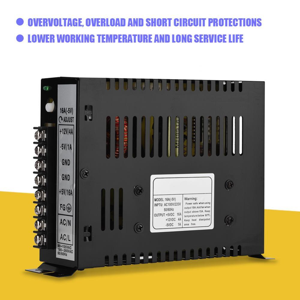 15A игровой компьютер PSU Питание блок 12 В 5 В DC коммутации Питание