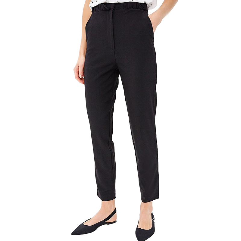 Pants & Capris MODIS M181W00446 women capri trousers for female TmallFS stylish high waisted black wide leg women s capri pants