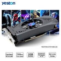 Yeston GeForce GTX 1050 GPU 2 GB GDDR5 128 бит игровой настольный компьютер ПК видео Графика карты поддерживают
