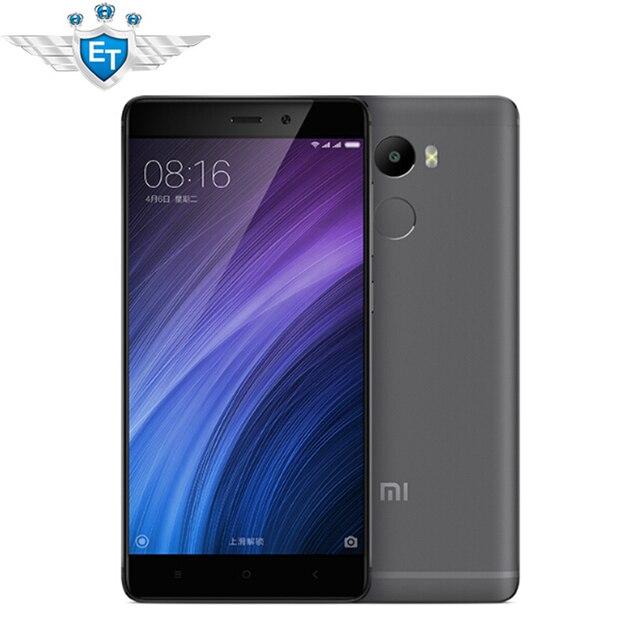 Оригинал Xiaomi Redmi 4 2 ГБ RAM 16 ГБ ROM Смартфон 5.0 Дюймов Snapdragon 430 Окта основные 4100 мАч FDD LTE 4 Г ОТА 13MP Глобальной ROM