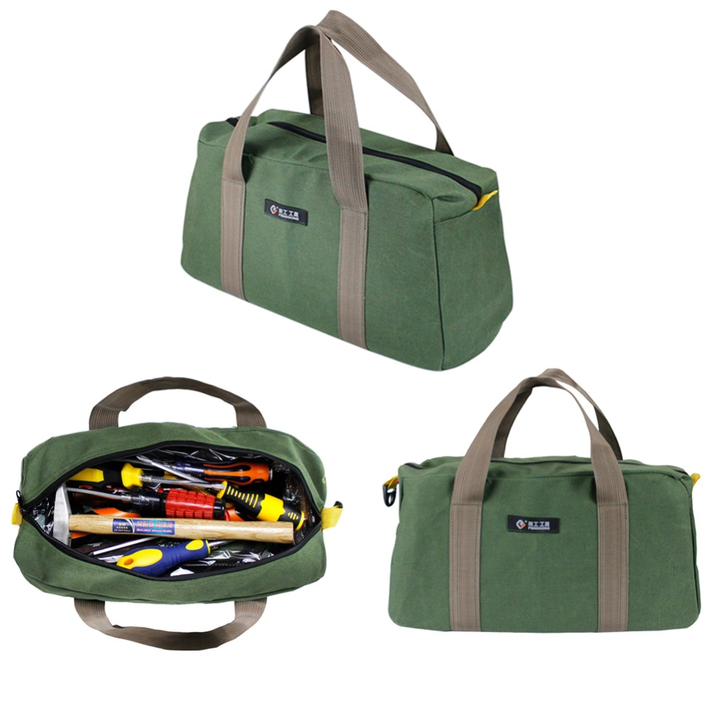 Canvas Waterproof Storage Hand Tool Bag Screws Nails Drill Bit Metal Partstravel Makeup Organizer Pouch Bag Case Tool Bag Without Return Tool Bags