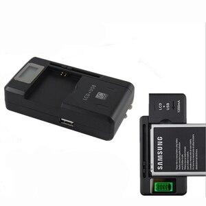Image 2 - 캐논 니콘 소니 카메라 htc 삼성 휴대 전화 배터리에 대한 조절 lcd와 최신 디자인 유니버설 충전기