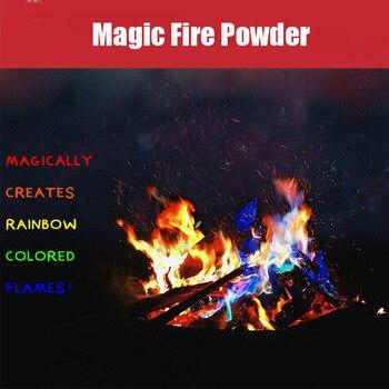 15g/25g fuego mágico místico truco de llamas de colores accesorios mágicos sobres chimenea Color juguete magos profesionales pirotecnia