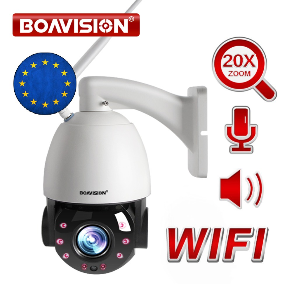 20X optique Zoom 1080 P sans fil PTZ dôme IP caméra WIFI extérieur IR 80 m en temps réel 25fps CCTV caméra de sécurité Audio parler haut-parleur