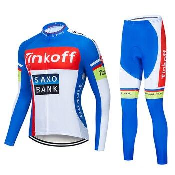 2019 Tinkoff saxo bank manga larga Maillot Ropa Ciclismo Jerseys/otoño Ropa de...
