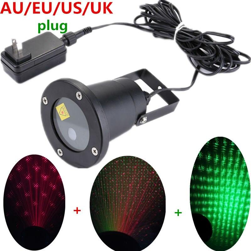 Christmas Waterproof laser lighting Landscape Sky Star Green Red laser effect Projector stage light for Outdoor garden lamp