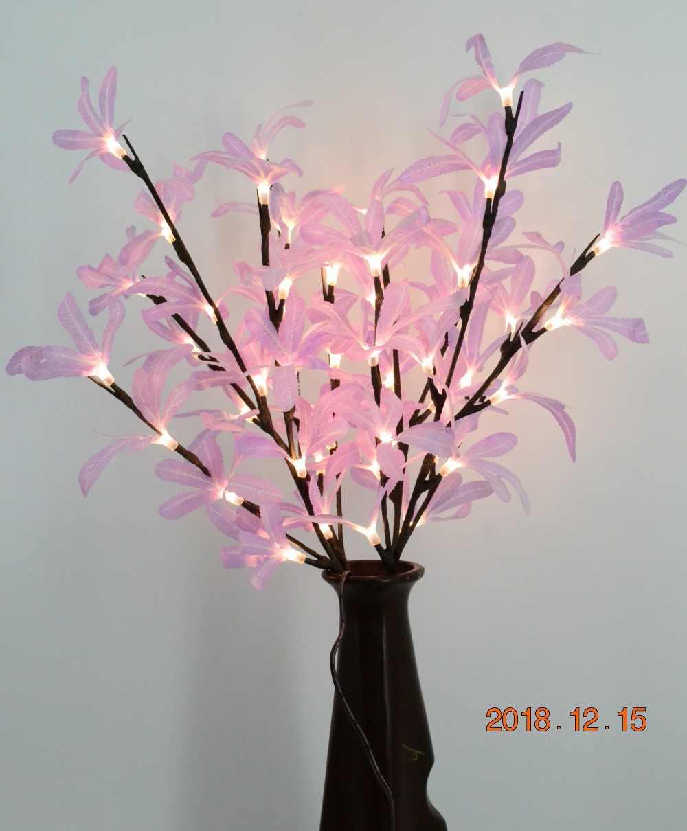 20 48l Led Bayberry Leaves Branch Lamp Vase Floral Lights