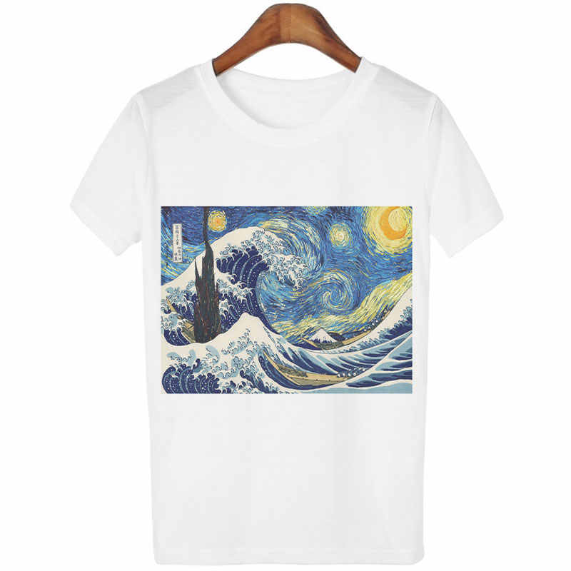 Impresión Camisas T Gogh Al Obra Pintor Kawaii Casual La Divertida Corta Van Pintura Arte Manga Óleo Mujer Del Tops Harajuku De Camiseta wOX8k0nP