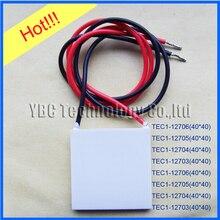 Heißer verkauf! thermoelektrischen Kühler Peltier 10 teile/los TEC1 12706 50*50*4,8mm TEC1 12706