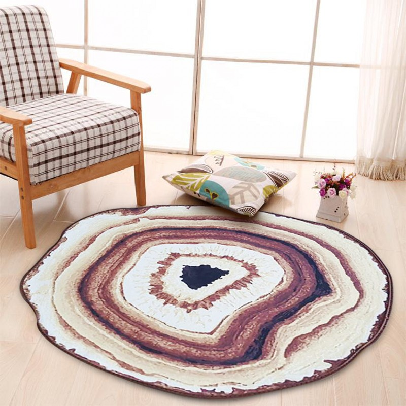 2 Sizes Creative Round Rug Large Size Round Carpet Rug For