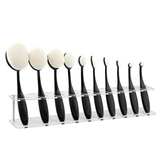 10 Grids Makeup Brushes Holder