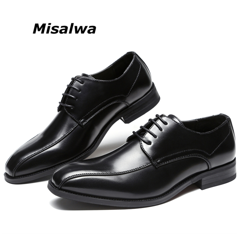 775a0aab1c1 US $33.15 49% OFF|Misalwa New Lace Up Oxford Dress Shoes Men's Business  Formal Dress Leather Shoes Job Interview Business Office Ceremony Shoe-in  ...