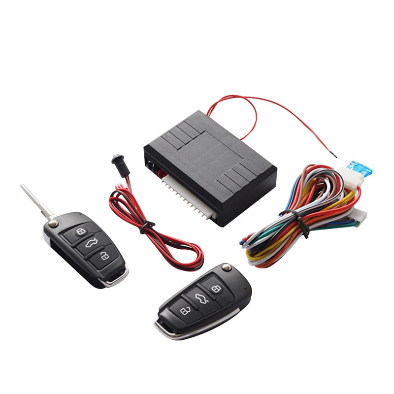Car Keyless Entry System with Central Door Locking System Kit and Two Switches