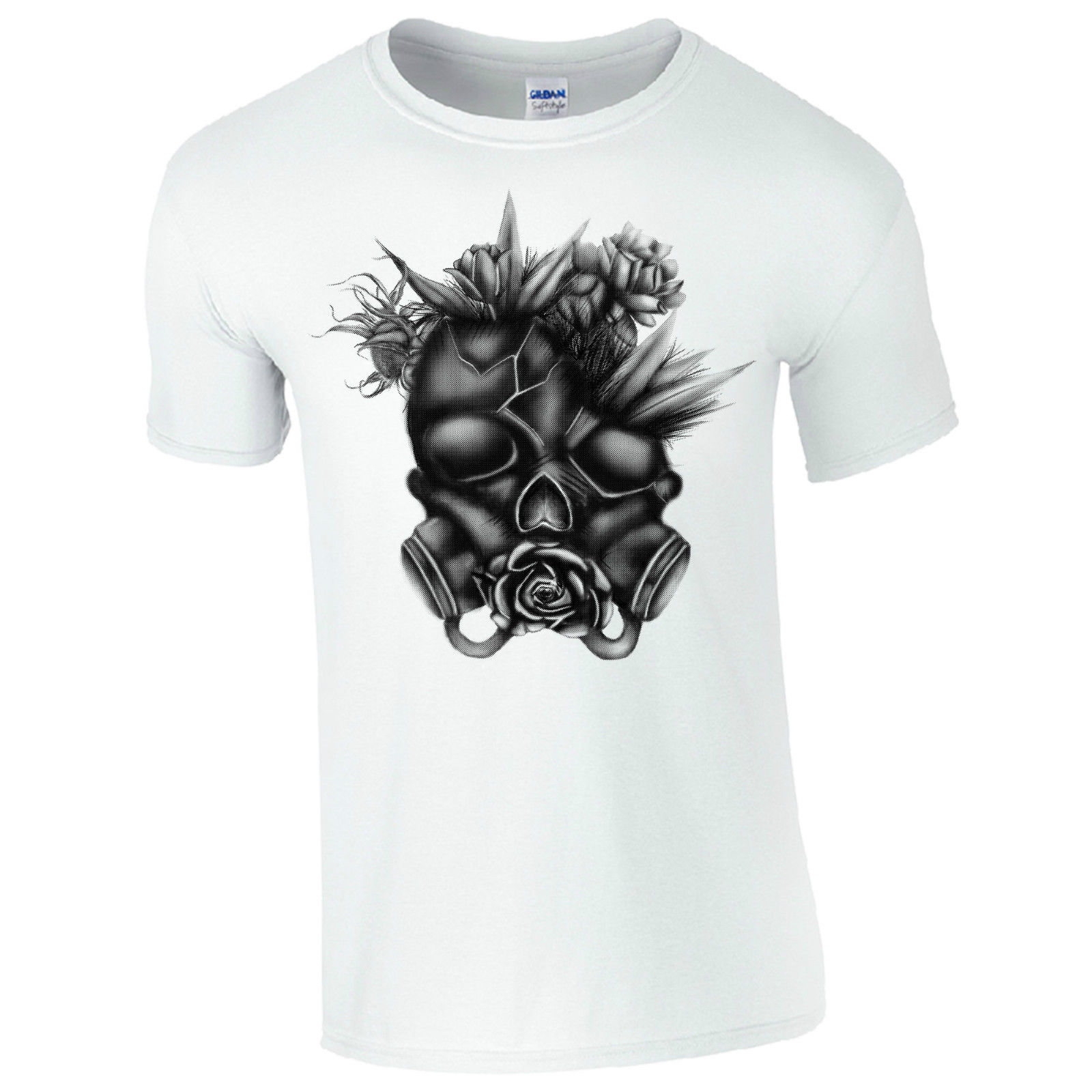 Gas Mask Skull Mens Black T-shirt Quality T Shirts Men Printing Short Sleeve O Neck Tshirt Tops Tees Printed Men T Shirt Back To Search Resultsmen's Clothing Tops & Tees