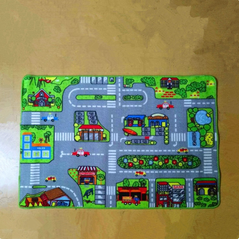Hot Sale Car Racing Road Pattern Baby Play Mats Developing Crawling Rug Carpet Educational Toys For Kids Game Home Room Decor
