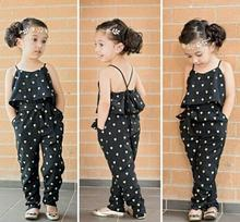 New Fashion Baby Girls Sing Polka Dot One Pieces Rompers Girl Summer Clothing Babies Sleeveless Clothes