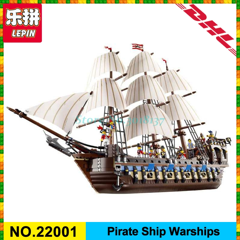 NEW LEPIN 22001 Pirate Ship warships Model Building Kits Block Briks Toys Gift 1717pcs Compatible 10210 for children new lepin 22001 pirate ship imperial warships model building kits block briks gift 1717pcs compatible diy 10210 educational toys