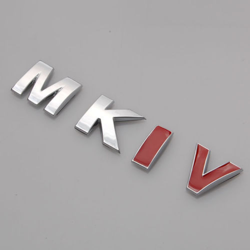 ABS Rear Trunk Badge Emblem Sticker MKIV RARE CHROME RED IV For VW Golf Jetta Bora MK4 Car Styling Auto Accessories Car Stickers car styling for mercedes benz g series w460 w461 w463 g230 g300 g350 chrome number letters rear trunk emblem badge sticker