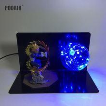 Dragon Ball Vegeta Four Colors Bombs Luminaria Led  Night Light Holiday Gift Room Decorative Led Lighting In EU US Plug