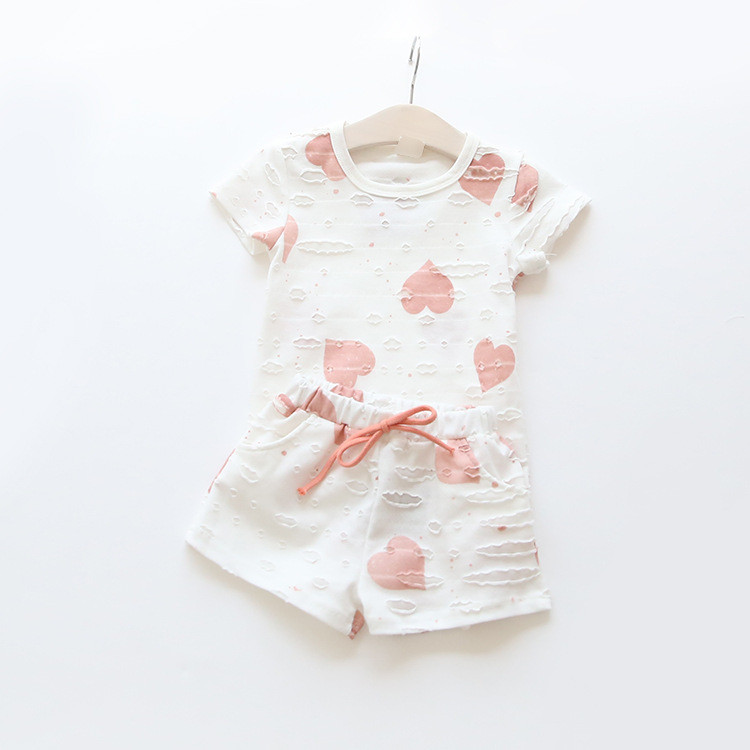 HTB1xYb0QXXXXXaoapXXq6xXFXXX8 - 2pcs/sets,Casual Kids Clothing Baby Girls Clothes Sets Summer Heart Printed Girl Tops Shirts + Shorts Suits Children's Clothing