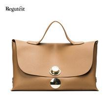 Begutest Designer Fashion Lock Hand Bags For Women 2017 Large Capacity Women Leather Handbags Vintage Female Bags Casual Totes