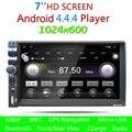 7 дюймов HD Двойной 2 Din Bluetooth Авто Стерео Радио GPS аудио Видео MP3 Плеер FM USB Сенсорный Четырехъядерных Процессоров Для Android 4.4