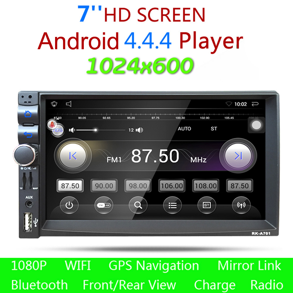 7 inch hd double 2 din bluetooth auto car stereo radio gps. Black Bedroom Furniture Sets. Home Design Ideas