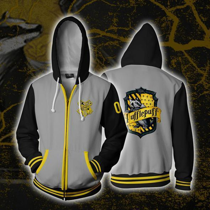 Batman Villains  3D Print Hoodie Men Arkham Sweatshirt   Warm Zip up Coat Hogwarts School of Witchcraft and Wizardry
