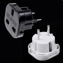 5PCS UK ToEU Europe European Universal Travel Charger Aapter Plug Converter 2 Pin Wall Socket