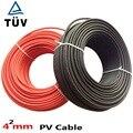 20 м/лот. 6mm2 кабель солнечной батареи 6mm2 или 4mm2 кабель солнечной батареи. TUV & UL сертификация. Черный или красный цвет