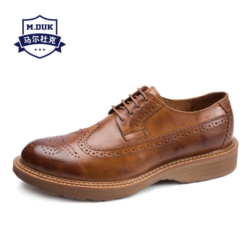 Genuine Leather Bullock men's shoes British Retro business casual shoes men spring autumn summer all-match cowhide breathable цена